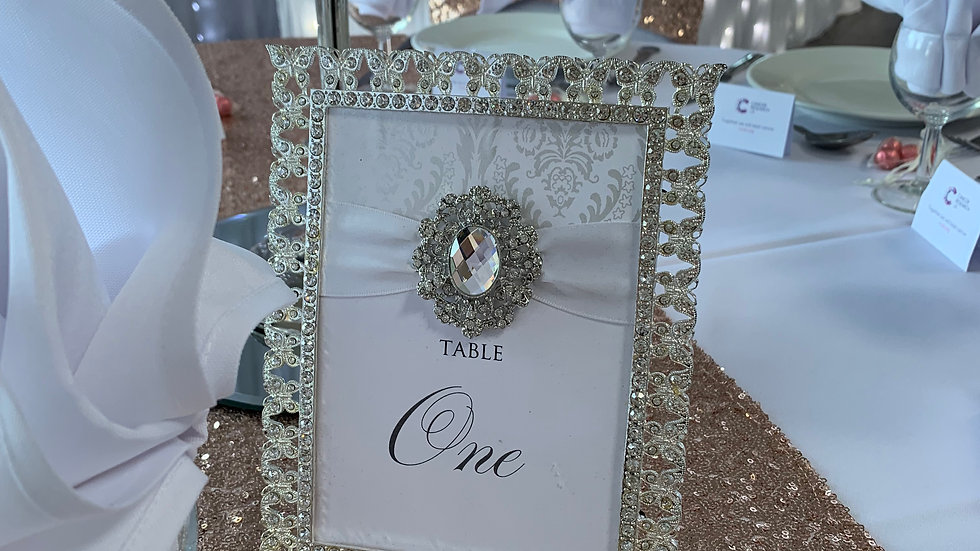 Silver Ornate Table Numbers