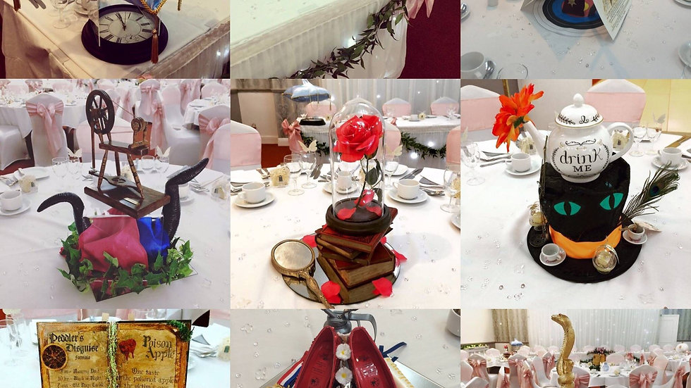 Disney themed centrepieces
