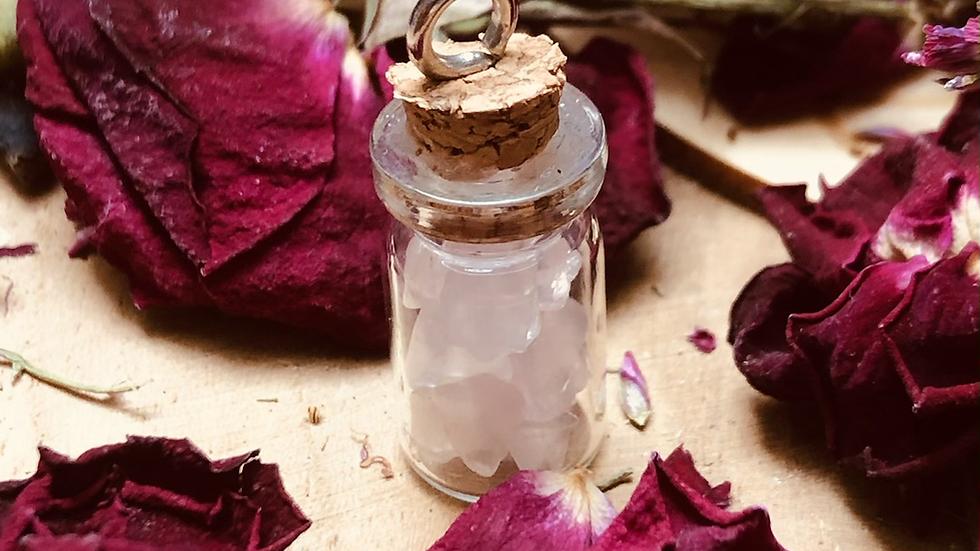 Mini Fiole - Quartz Rose