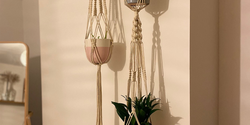 Cotton Lily Macrame Plant Hanger Workshop