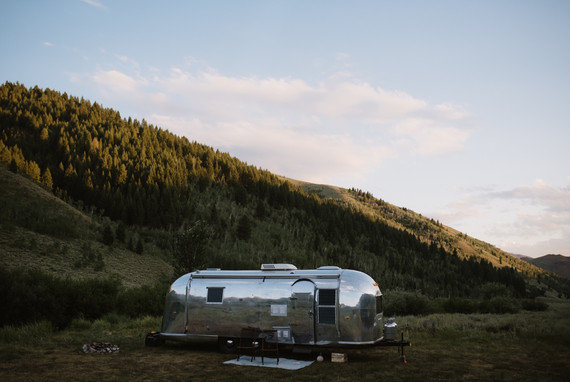Visiting Sun Valley, Idaho in a renovated 1962 Airstream Overlander, by Coviello Photo.