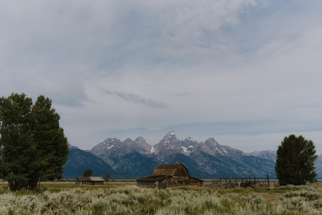 Visiting Grand Teton National Park and T.A. Moulton Barn in a renovated 1962 Airstream Overlander, by Coviello Photo.