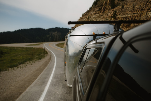 Visiting Grand Teton National Park in a renovated 1962 Airstream Overlander, by Coviello Photo.