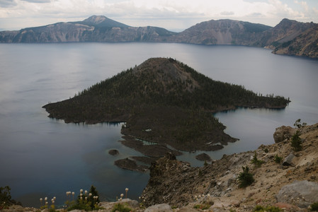 Photography of Crater Lake National Park in Oregon.