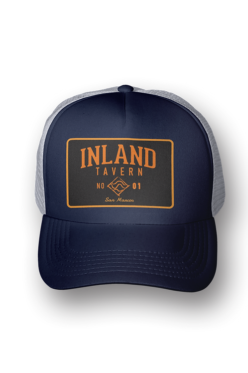 CLASSIC NAVY BEND PATCH TRUCKER