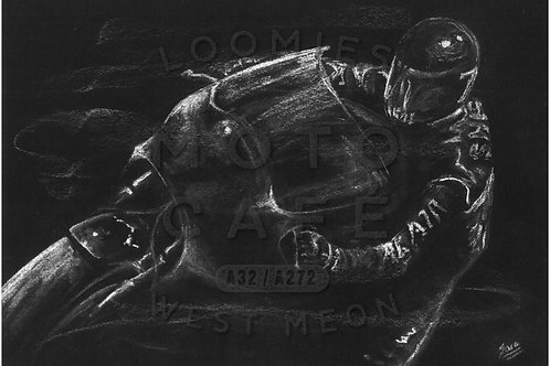 Barry Sheene silhouette- A3 size *SOLD*