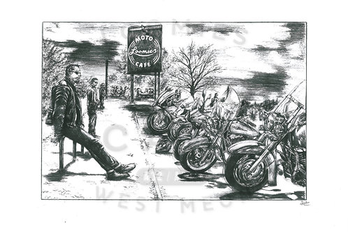 Loomies cafe- A3 size *SOLD*