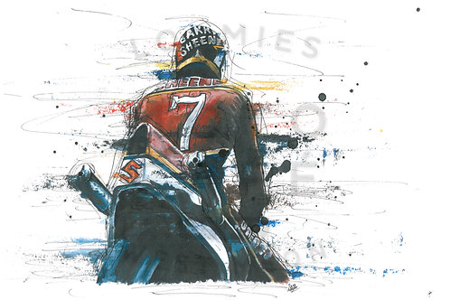 Barry Sheene no.7- A3 size *SOLD*