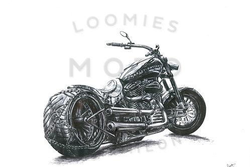 Modified Harley custom- A3 size