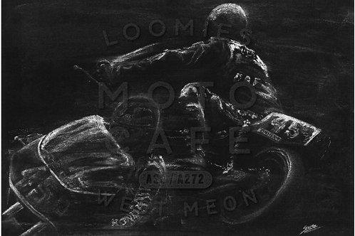 Joey Dunlop silhouette- A3 size