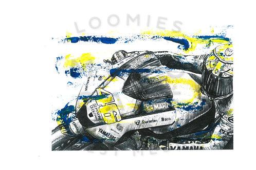 Valentino Rossi- A4 size