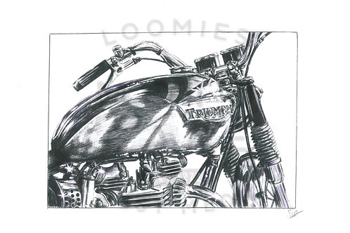 Waynes classic triumpth commission- A3 size *SOLD*