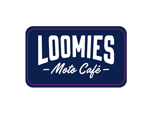 LOOMIES Dark Blue Sticker - Indoor / Small
