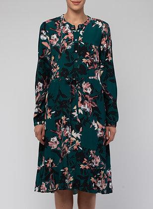 Pleat Back Winter Leaf Dress