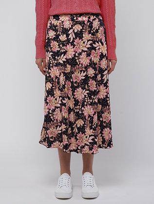 Spot Floral Skirt