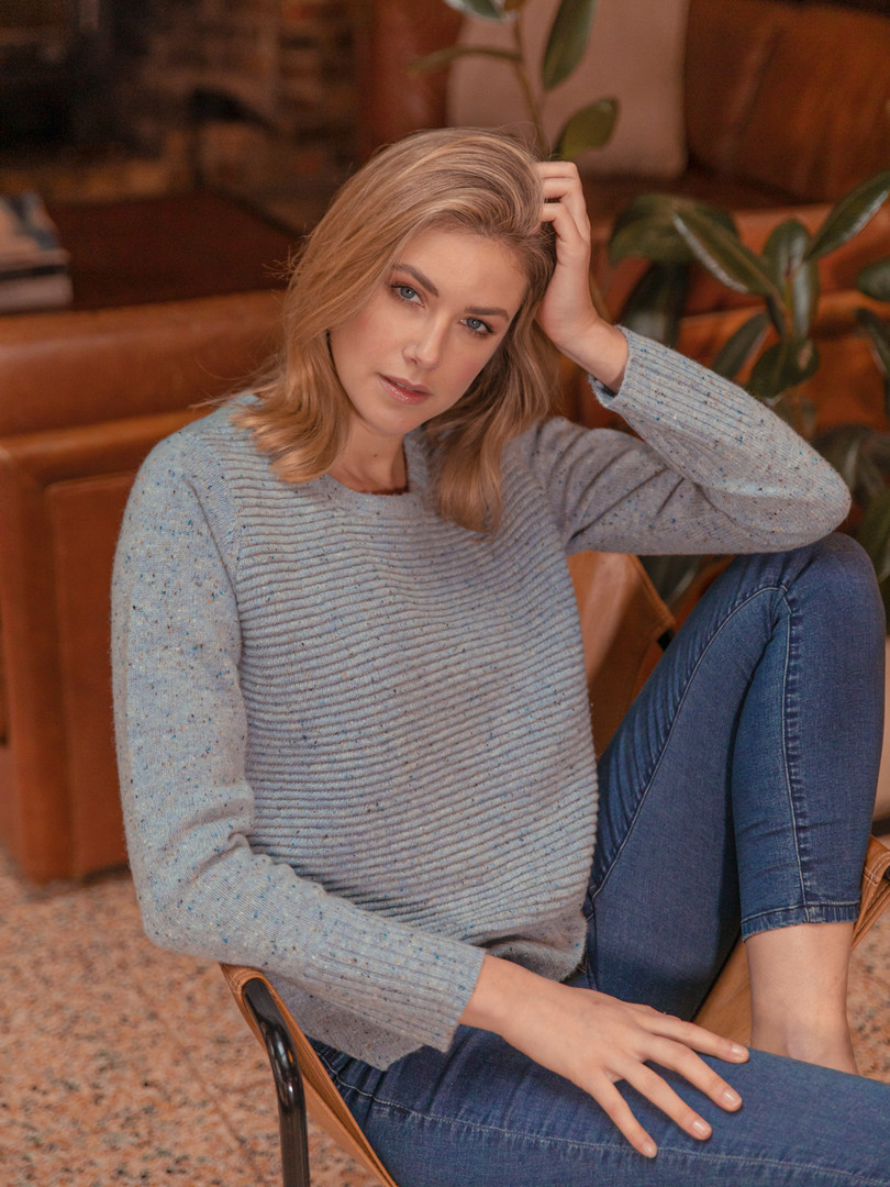 TEXTURE RIB DONEGAL PULLOVER