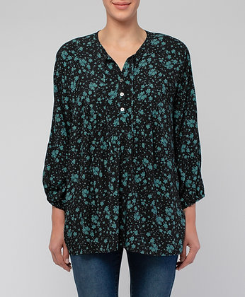 Tie Front Ditsy Floral Top