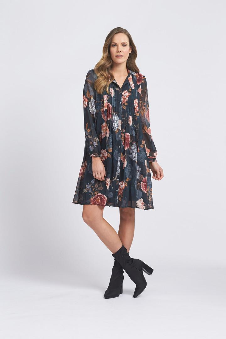 Hydrangea Haven Pleat Dress