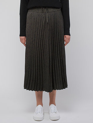 Mono Animal Pleated Skirt