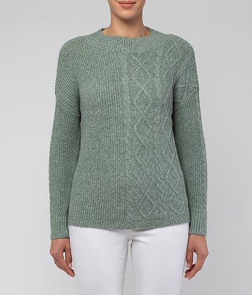 Contrast Stitch Sponge Pullover