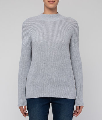 Shaker Stitch Side Button Pullover