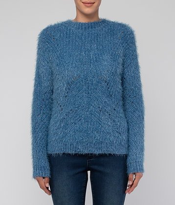 Feather Chenille Pullover
