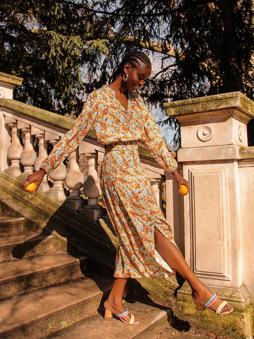 Kachel floral blouse and skirt
