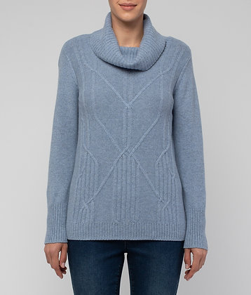 Cowl Neck Pattern Pullover