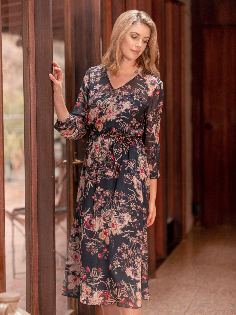 TAPESTRY FLORAL DRESS