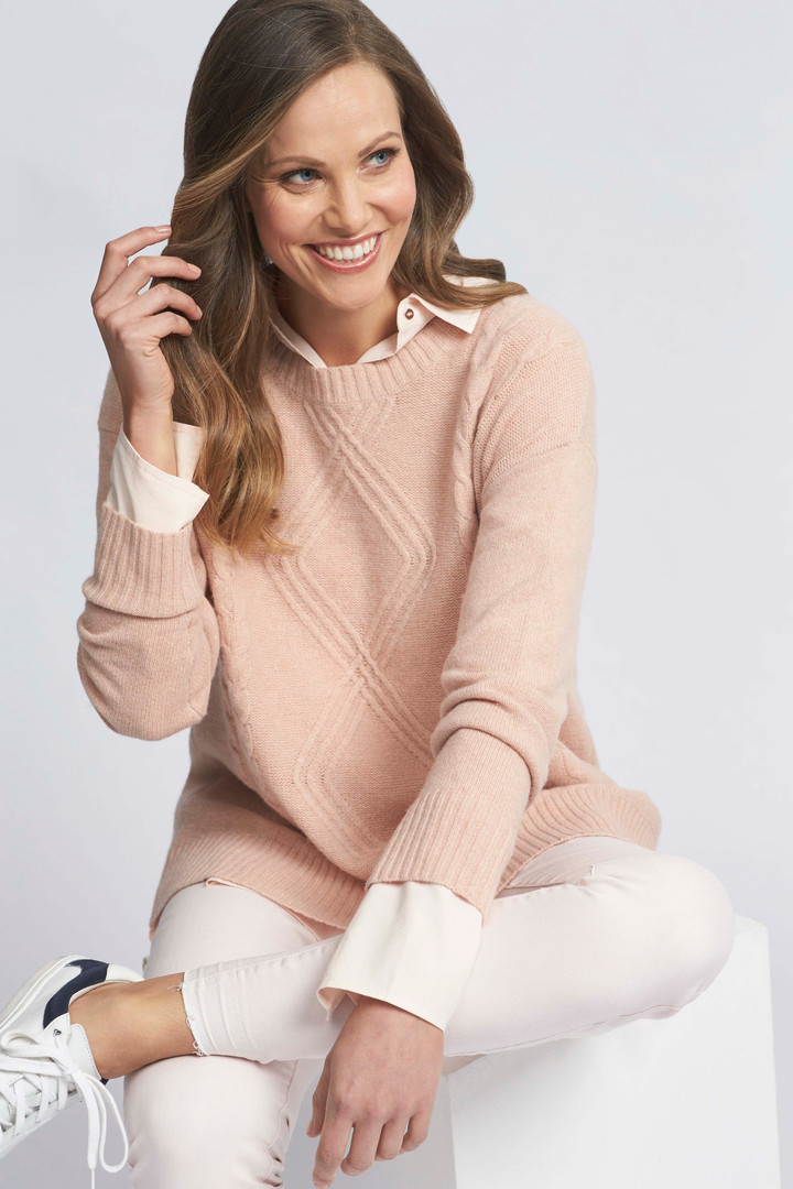 Cable Detail Pullover