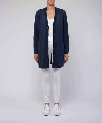 Tab Sleeve Button Through Cardi