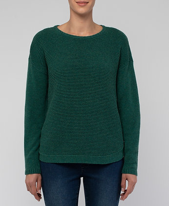 Rib Pullover with Side Buttons