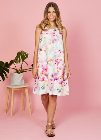 Jump Watercolour Floral Shift Dress