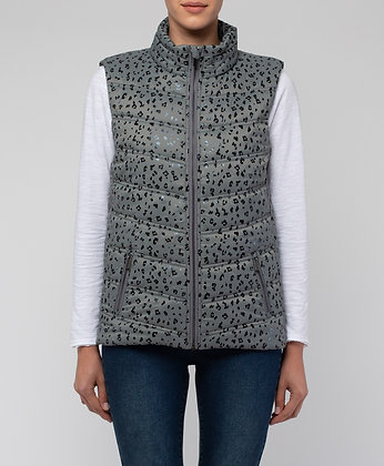 Abstract Print Vest
