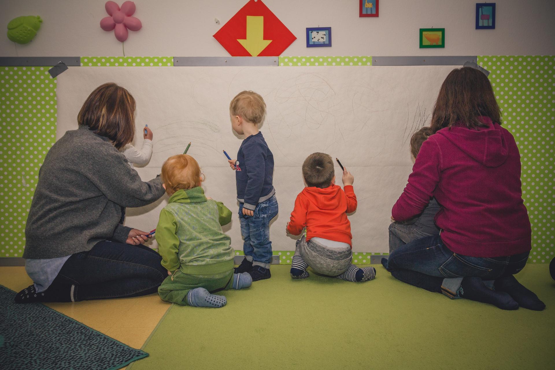 Ruhrminis Kinder malen