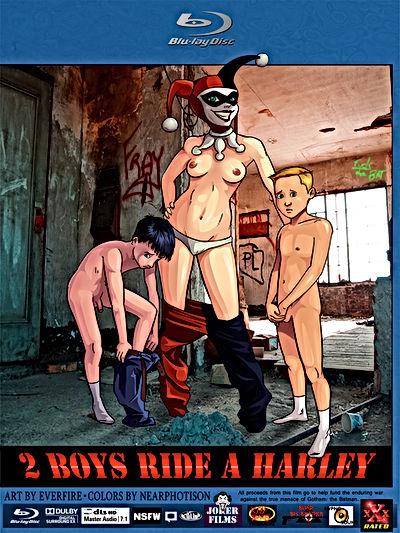 2 Boys Ride a Harley