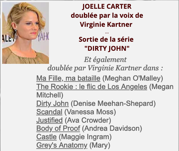 Joelle Carter/Virginie Kartner
