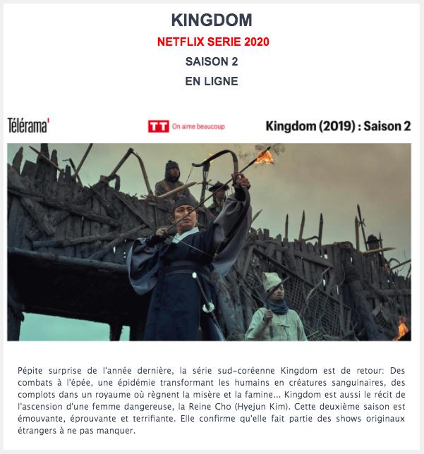 Kingdom- Série Netflix