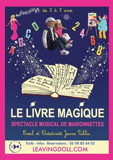 """Affiche specatcle """"Le Livre Magique"""" de Virginie Kartner"""