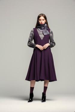 Sleeveless Violet Dress