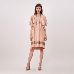 Ruffled Off Shoulder Dress