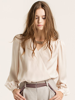 wrap-effect blouse