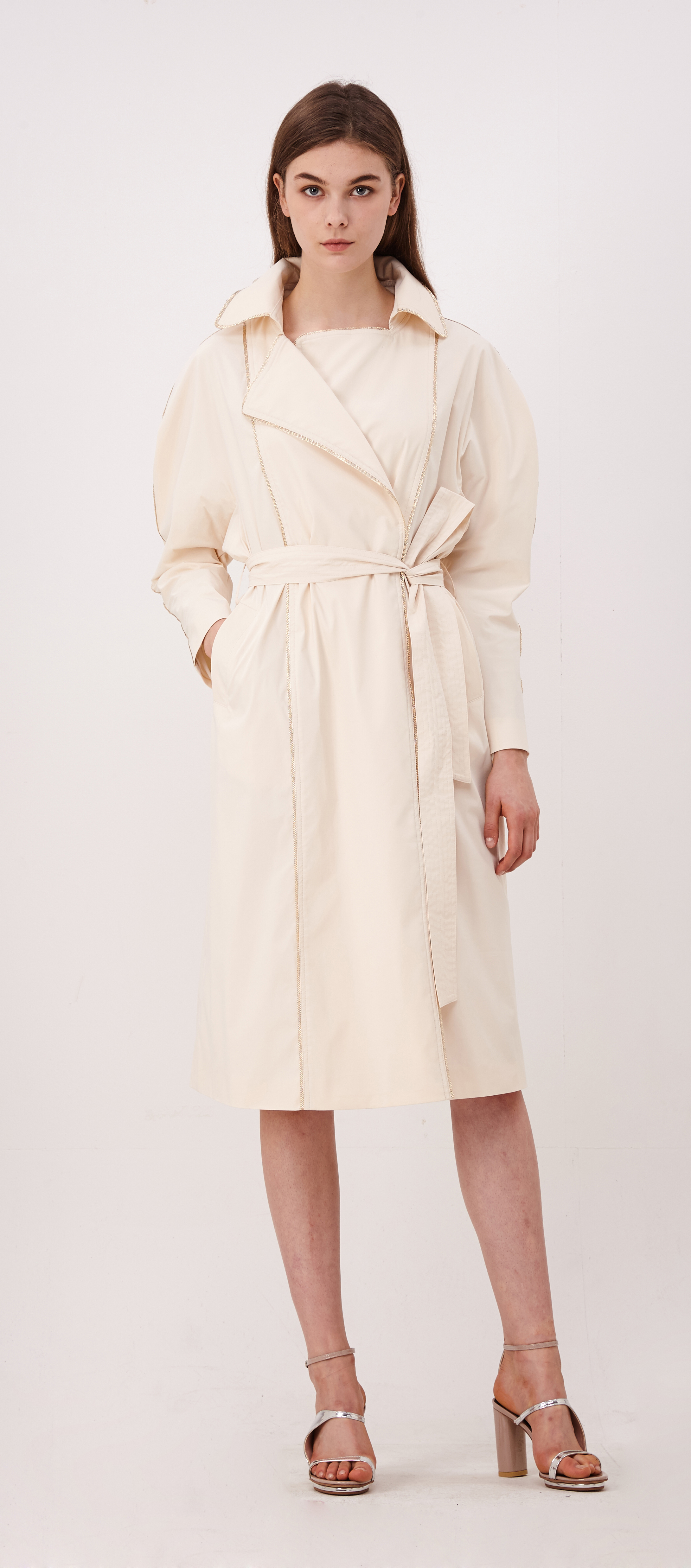 2017SM010 Puff Sleeve Trench Coat