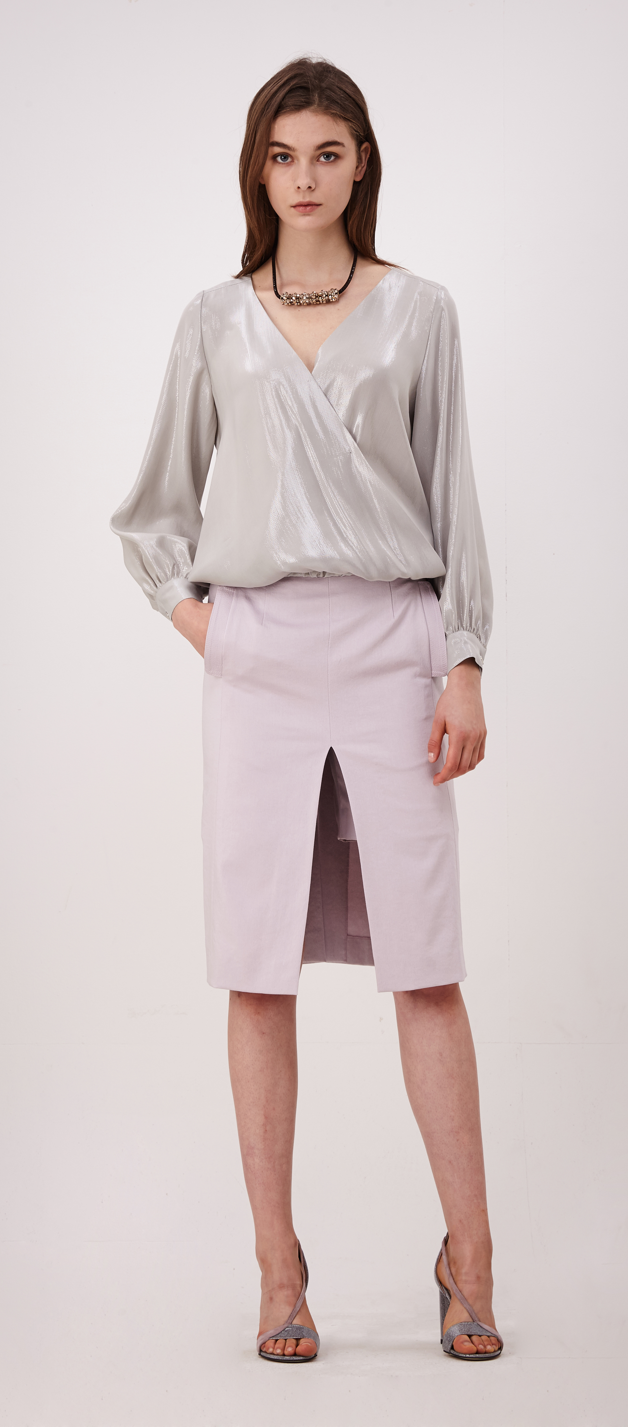 2017SP009 Mid Cut Skirt Pants