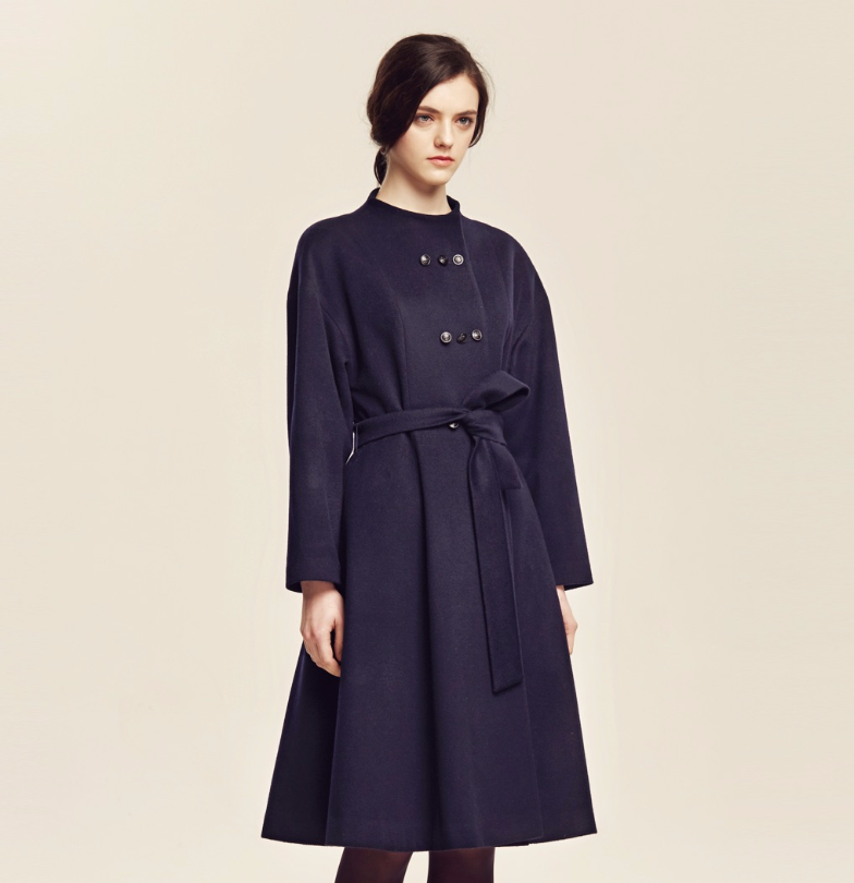 Triple Button Swing Coat