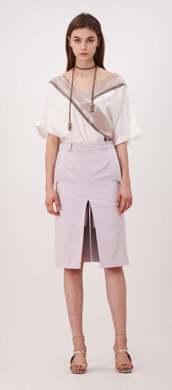 2017SP009 Mid Cut Skirt Pants
