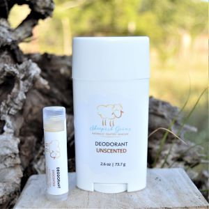All Natural Deodorant Unscented Sheepish Grins Handmade All-Natural Eco-Friendly Bath & Body Boerne San Antonio Texas