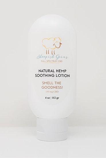 CBD Hemp Oil Natural Soothing Lotion Sheepish Grins All-Natural Eco-Friendly Handmade Bath & Body Boerne San Antonio Texas