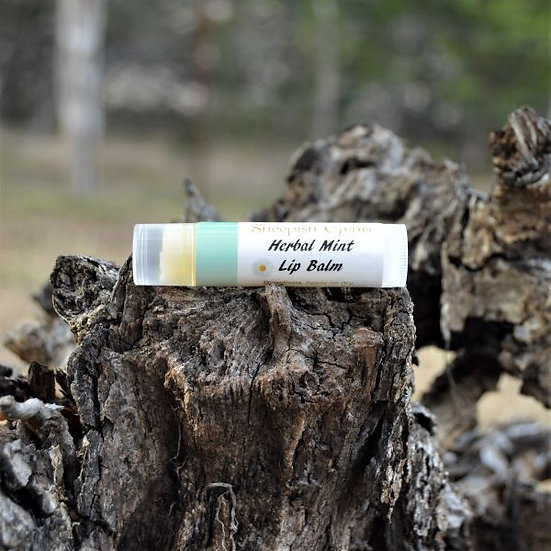 Herbal Mint Lip Balm Sheepish Grins Natural Eco-Friendly Handmade Bath & Body Boerne San Antonio Texas