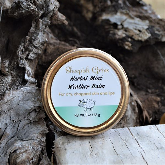Herbal Mint Weather Balm Sheepish Grins Natural Eco-Friendly Handmade Bath & Body Boerne San Antonio Texas
